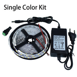 Wholesale High Power Led Strip Red - 5m 300LEDs 2835 SMD LED strip light 12V + 2A Power Adapter Supply High Quality UL ETL SAA CE ROHS approved 3 years warranty