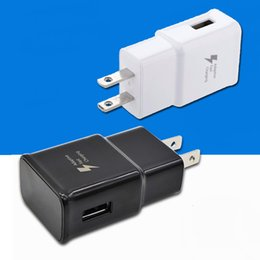 Wholesale Plug Adapter For Uk - For Samsung Adaptive Fast Charging Wall Charger adapter EP-TA20JWE Original Quality OEM US EU UK Plug For Galaxy S8 S7 Edge Note 8 J7 prime