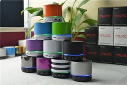 Wholesale free china call - S11 Bluetooth Mini Speaker Outdoor Speakers With LED Lighting Hand-free Mic Stereo Portable Speakers TF Card Call Function DHL Free Shipping