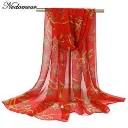 Wholesale White Elegant Scarves - Wholesale-2016 new fashion soft scarfs georgette Chiffon Scarf for elegant women scarves shawls and scarves national style