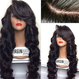 Wholesale Tangle Free Lace Front Wigs - 8A Tangle Free U Part Human Hair Wigs For Black Women Brazilian Body Wave U Part Wigs Unprocessed Hair UPart Wig For Sale