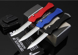 Wholesale Survival Knife Material - Brand new Marfione Microtech HALO IV 4 Rev.II S N D2 blade material 6061 aluminum handle survival pocket knife knives
