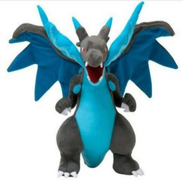 Wholesale Mega Cartoons - Poke mon Center Mega 9inches Charizard X Plush Doll Soft Stuffed Animal Toy Cartoon Christmas Gift Baby Kids Gift