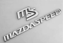 Wholesale Mazdaspeed Badge - 1 set Mazda metal MS car sticker badge M3 M6 metal MS MAZDASPEED auto logo emblem