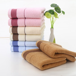 Wholesale Cute Boys Bath - bath towels baby towels washcloths Maternity kids baby bib cartoon cute towel for kindergarten children sweat and slobber 33X74CM