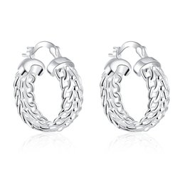 Wholesale Earring Infinity - Wholesale- Fashion Exquisite Silver Plated Round Loop Big Hollow Bijoux For Women Girls Elegant Infinity Jewelry Femme Circle Hoop Earrings
