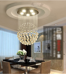 Wholesale Led Cool White Hanging Lights - led crystal chandeliers round stair hanging lights aisle duplex stairs bedroom clothing store living room restaurant chandeliers cool white
