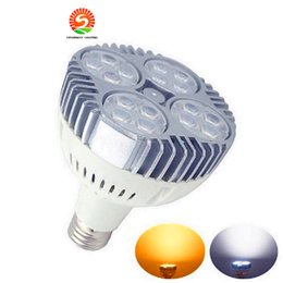 Wholesale Wholesale Led Clothing - LED PAR38 40W 50W LED Spotlight Par 38 20 led bulb with Fan for jewelry clothing shop gallery track rail light museum lighting CREE