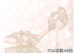 Wholesale Crystal Bling Buckle - 2016 Newest sexy Fashion White Women Bling Rhinestone Crystal Wedding Shoes For Women