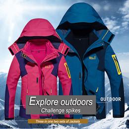 Wholesale Cashmere Suit Coat - Wholesale- New large size 4 colors Winter jackets men windproof ourdoor down parkas warm hood Mountaineering suits 2017 winter coat