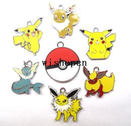 Wholesale Pikachu Party - New Pikachu Charm pendants Jewelry DIY Making Party Gifts xP-12