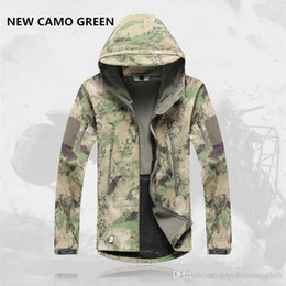 Wholesale Red Skin Jacket - Hot Mens Jacket Lurker Shark Skin Shell Outdoor Tactical Camping Hiking Jackets Waterproof Windproof Sports Jackets Fashion Camouflage