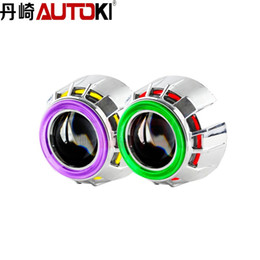 Wholesale Bi Xenon Light 35w H4 - Free Shipping 35W 12V 2.5 CCFL Double Angel Eyes +Bi-xenon Projector Lens+Shroud H4 H7 Quick Install LHD RHD for Car headlight