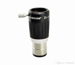 Lente ocular online-Visionking de alta calidad 2x 4-Elemento Barlow Lens 1.25 '' Telescopio Ocular Metal Cuerpo Buena Envío gratuito