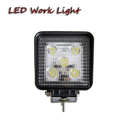 Wholesale Led Flood Lights For Trailer - free shipping 4x4 15W square led work light for farm agriculture truck trailer tractor harvester forestry machine Boating forklift lamp
