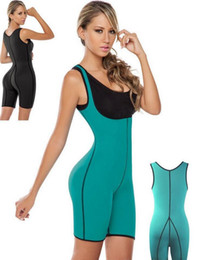Wholesale One Piece Shaper Suits - Both Sides Sport One Piece Body Shaper Body Suit Butt Lifter Gym Fitness Slimming Fitness Ultra Sweat Corset