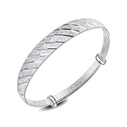 Wholesale Brass Shower Sets - New Fashion Silver Bangle Meteor Shower Charm Cuff bracelet For Women Party Birthday Jewelry Wristband Adjustable Wide Bangles