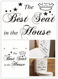 citations autocollant Promotion Stickers décoratifs Sièges de toilette Art Stickers muraux Citation Décorations de salle de bain Sticker Vinyle Décor à la maison Couleur Stickers personnalisés Murs