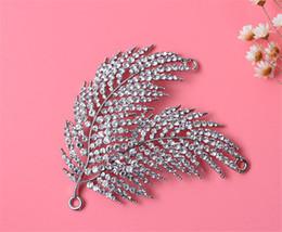 Wholesale Faux Baroque Pearls Wholesale - Wedding Bridal Headpiece Hair Accessories Silver Crystal Leaf Crown Tiara Princess Headband Rhinestone Baroque Headdress Jewelry Hair Clips