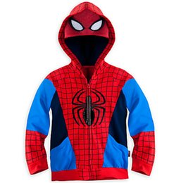 Wholesale Good Quality Kids Hoodie - EMS Free shipping Good Quality Children Kids Boys Iron Man Captain America Hulk Thor Spiderman Coat Jacket Hoodie