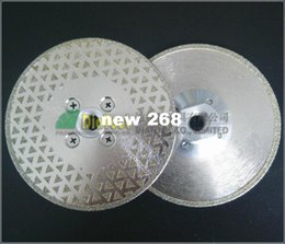 Wholesale Diamond Cutting Grinding Disc - 2pcs Single sided Electroplated Diamond cutting & grinding discs for marble and granite with M14 Flange
