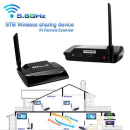 Wholesale Tv Av Sender Receiver - Freeshipping Superior Quality 5.8GHz 300M HDMI 1080P in AV Sender TV Wireless Transmitter Receiver Audio Video