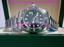 Wholesale Original Papers - Three styles High Quality 116610 116610lv 114060 40mm sapphire Green Ceramic bezel Automatic Mens Watch Watches Original Box Papers