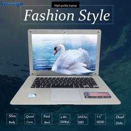 Wholesale Ddr3 4g Notebook - Windows8 7 10 1920X1080P FHD Screen 14inch laptop notebook In-tel J1900 Quad Core 4G DDR3 750G HDD Webcam slim ultrabook USB3.0 High battery