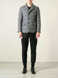 Wholesale Dress Parka - 2015 mens italy brand New goose down jackets man winter business suit dress down parkas gray Moncleareds down coats rodin