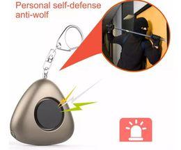 Wholesale Self Defense For Women - Mini Self Defense Alarm Emergency Safety Alarm Keychain 120dB SOS With LED Flashlight For Women Kids Elderly Adventurer 60pcs YYA948