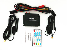 Wholesale Double Tv Tuner - free shipping Double mobility tuner & active antenna CAR DVB-T2 ,Indonesia, Singapore use Mobile DIGITAL TV TUNER RECEIVER