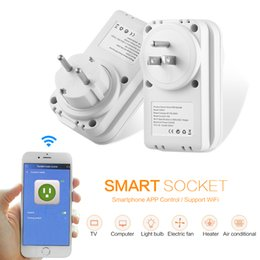Wholesale Remote Control Ac Outlet - LIGAN SWA1 AC 100 - 240V Smart Socket 2.4GHz Wireless Remote Control Outlet Switch With Time Function APP Control US   EU Plug