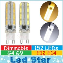 Wholesale G4 Led Cree - G9 G4 E12 E14 Led Corn Lights High Power 15W Dimmable Led Bulbs Light 152LEDs SMD Led Lights AC 110-240V