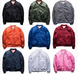 Wholesale Plaid Suit Jacket Women - MA1 Bomber jacket pink women jackets men KANYE WEST Sport Suit Parkas hip hop coats streetwear zipper pockets