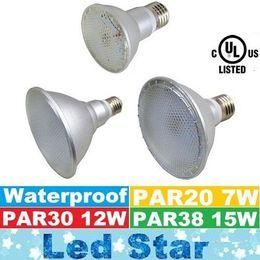 Wholesale E27 7w Cob Corn - UL PAR20 PAR30 PAR38 Waterproof IP65 Led Light Bulbs 120 Degree 7W 12W 15W E27 Led Spot Lights AC 110-240V