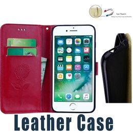 Wholesale Iphone 5s Stand Case - For iPhone 5s 6s 6 Plus 7 Plus Card Slot Flip Stand Leather Case with Wallet For Samsung S7 Edge S8 Plus