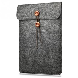 Wholesale Sleeve Case Notebook 13 - Wholesale Woolen Laptop Bag Sleeve Pouch for Macbook Air Pro 13 15 Retina 13 15 Unisex Liner Sleeve Notebook Case for Macbook Air