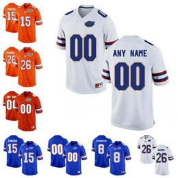 Wholesale Florida Gators Football - Custom Florida Gators College Football Limited orange white royal blue Personalized Any Name Number Stitched #15 Tebow 22 Smith Jersey S-3XL
