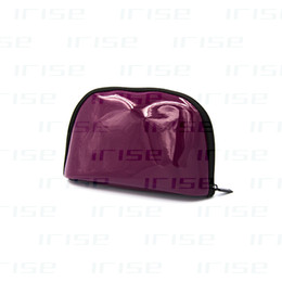Wholesale Purple Purses - Fashion brand patent leather cosmetic case luxury makeup organizer bag beauty toiletry pouch vanity clutch purse boutique VIP gift wholesale
