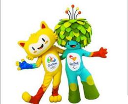 Wholesale Mascot Anime - 2016 Rio DE janeiro Olympic mascots plush toys Vinicius & Tom plush toys stuffed animals action+figures anime figure