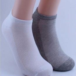 Wholesale Huf Socks Soccer - Wholesale-1pair Men's Ankle Socks Soccer Summer Mesh Breathable Thin Boat Socks For Male Solid White Black Gray Colors 3d Men Sport Socks