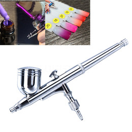 Wholesale Car Paint Gun Kit - Wholesale- 1pc Dual Action Airbrush Kit Temporary Tattoo Set 0.2mm Needle Air Brush comperssor body Paint Art Spray Gun Car Nail Art Tools