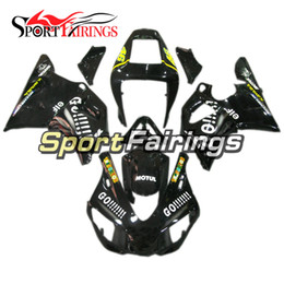 Wholesale 99 Yamaha R1 Plastics - Black Yellow Fairings For Yamaha YZF1000 1998 1999 98 99 R1 Injection ABS Fairings Motorcycle Bodywork Kit Injection R1 Plastics Cowling