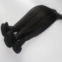 Wholesale 2pcs Malaysian Hair Straight - Brazilian Hair Weave Natural Color 8A Hair Bundles 2pcs lot Peruvian Indian Malaysian Straight Unprocessed Human Hair Weft Extensions