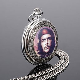 Wholesale Ladies Students Watch - Wholesale Hot Sale Che Guevara fashion retro quartz pocket watch Best gift for Lady men student