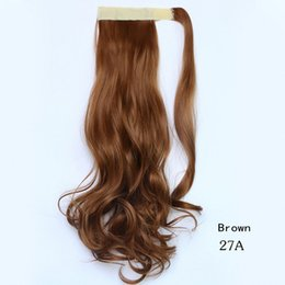 """Wholesale Sexy Extensions - Wholesale-Fake Hair Sexy Lady 45CM 18"""" Curly Wavy Ponytail Hair Extension Dark Brown Black Blonde Wrap around Pony tail Horse"""