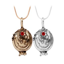 Wholesale Vampire Diaries Vervain Necklace - New The Vampire Diaries Necklace Elena Gilbert Vintage Vervain Verbena Pendant Photo Locket Jewelry For Men And Women NAE09