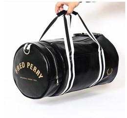 Wholesale Vintage Sport Handbag - brand fred mens messenger duffel bags men travel bags leather casual men handbag outdoor vintage men shoulder bag perry Drawstring