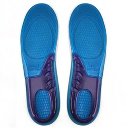Wholesale Orthopedic Silicone Insole - 2 Pair Sport Insole Gel Massaging Insole Arch Support Orthopedic Plantar Fasciitis Running Silicone Insoles for Male Female HW712