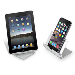 Wholesale Plus Security - Aluminum Cell Phone Stand Security Desktop Holder Tablet Stand for iphone 8   7   7 plus for Samsung Smartphone for ipad Air 2